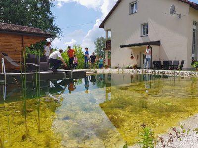 Wasser im Garten Wassertag GartenZauner Biopool Schwimmteich Naturpool Oberösterreich