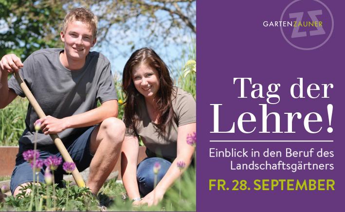 Tag der Lehre, GartenZauner, Gartengestaltung, Landschaftsgärtner Lehre