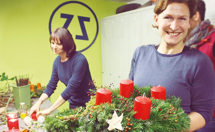 Adventkranzbinden, gartenzauner, Gartengestaltung oö, landschaftsarchitektur, weihnachten, advent