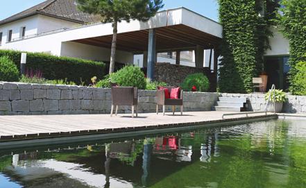 Wasser im Garten, Schwimmteich, Naturpool, gartenzauner, Gartengestaltung, garten und Landschaftsbau