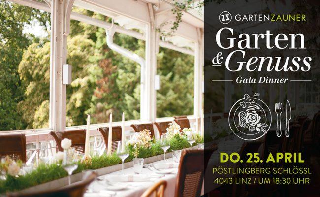 garten und Genuss, Gala Dinner, Gala-Dinner, Garten, Garten event, Veranstaltung, Zauner, Gartengestaltung, Abendessen, OÖ, Oberösterreich, pöstlingberg, Veranstaltungen in Linz, Linz