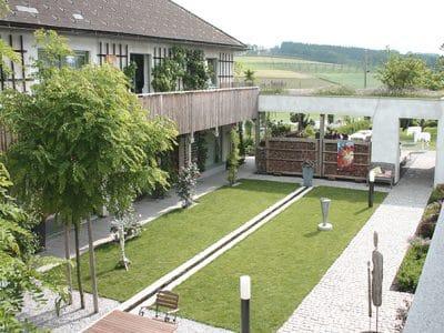GartenZauner Innenhof von oben