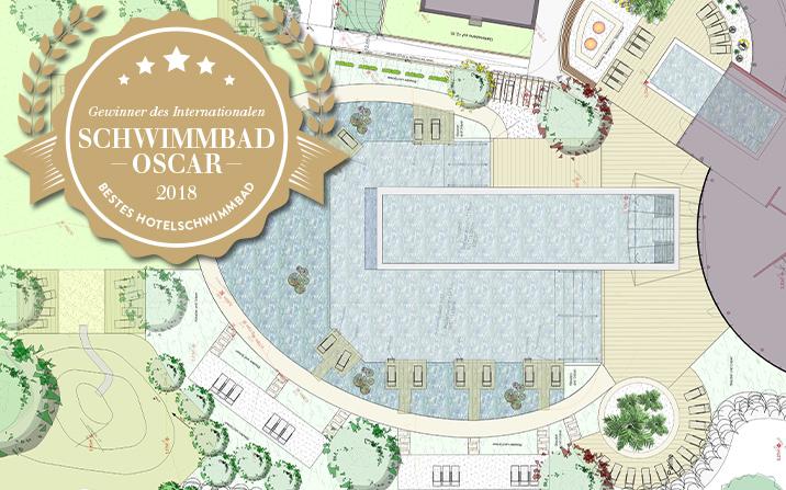 Schwimmbad Oscar Gewinner Schwimmteiche Naturpools und Wasser im Garten / Landhotel Stemp Büchlberg Bayrischer Wald