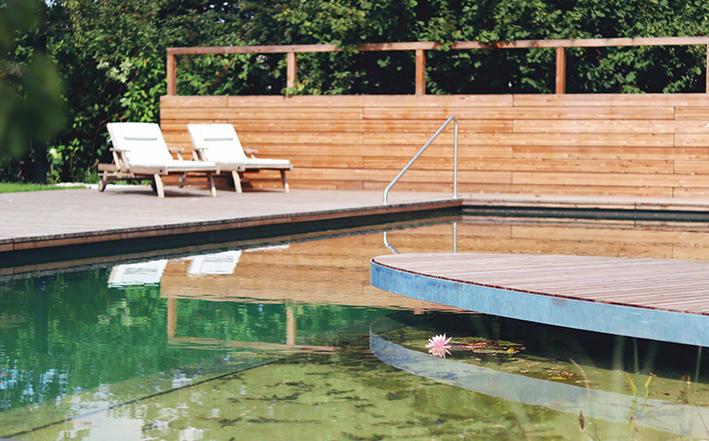Gartenzauner, Schwimmteich, Gartengestaltung, Wasser im garten, garten Planung, Oberösterreich