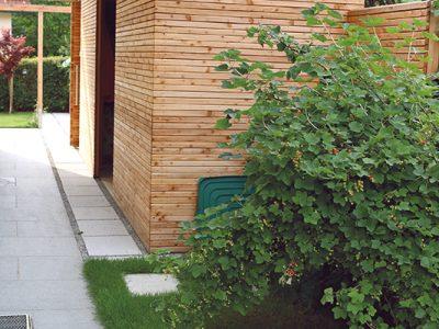 Holz als Gestaltungselement und Stauraum Gartenraum GartenZauner