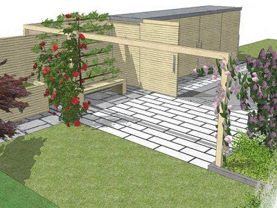 Gartenraum Magazin GartenZauner Sichtschutz Wand