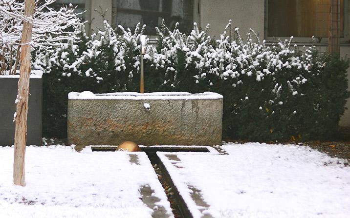 Wasserspiel im Winter - GartenZauner